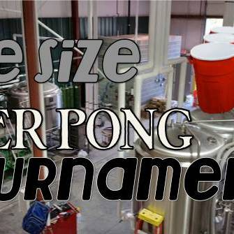 Life Size Beer Pong Tournament