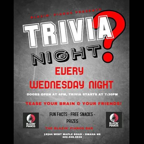 Trivia Night at Blazin' Pianos