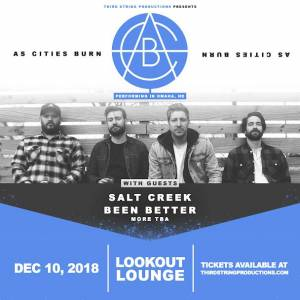 As Cities Burn, Salt Creek + more at Lookout Lounge