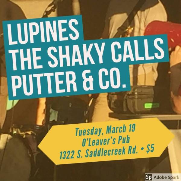 Lupines | The Shaky Calls | Putter & Co